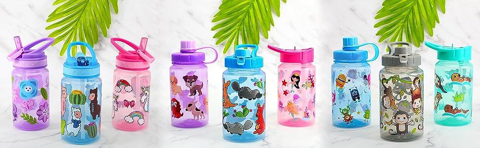 kids drinking water bottle 3 pack