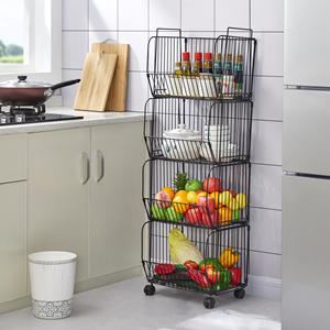 4 tier wire baskets for kitchen