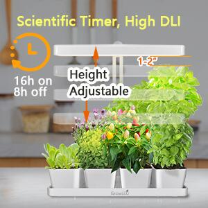 Scientific Timer with High DLI to make sure plants grow faster and better.