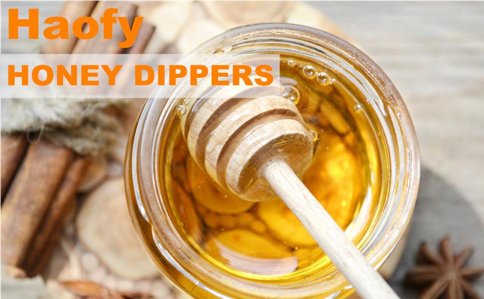 Wooden Honey Dipper Sticks