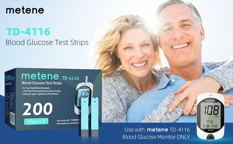 Metene TD-4116 Blood Glucose Test Strips