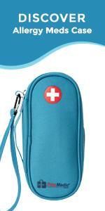 PracMedic Bags Epipen Carry Case- Auvi Q, Inhaler, Antihistamine, Allergy Meds