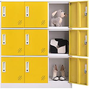 9 door metal storage cabinet
