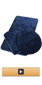 Bathroom Rug Sets with Lid Cover