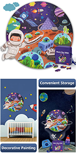 Outer Space Planet Floor Puzzles for Kids
