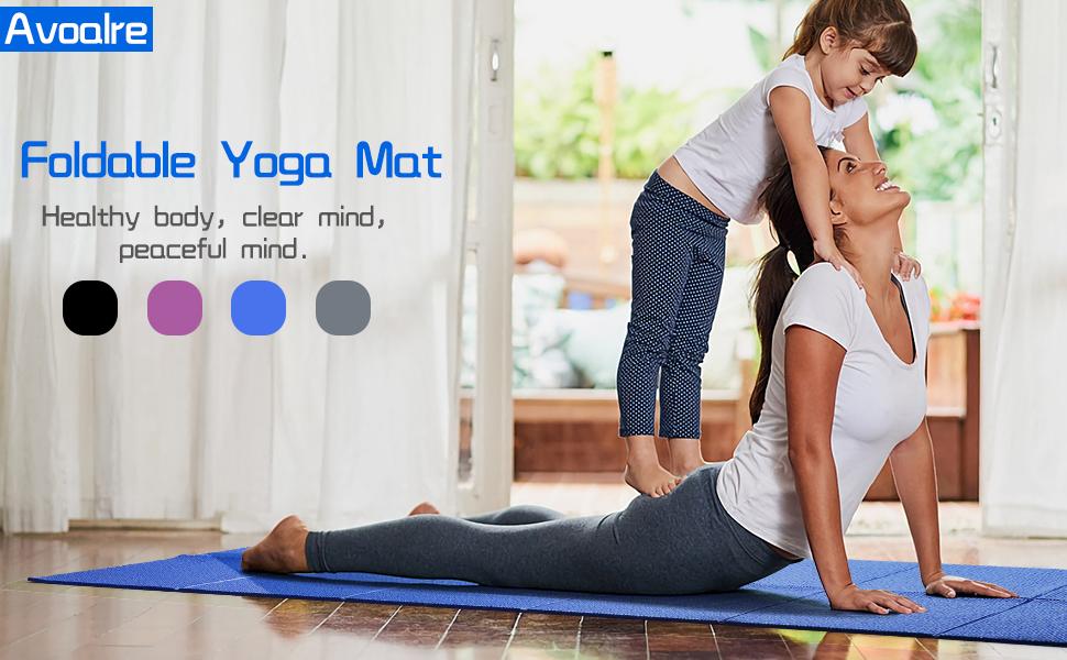 Avoalre Yoga Mat Antislip Opvouwbaar