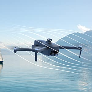 drone in wind