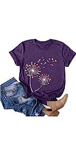 T-Shirts for Women Z07-Purple