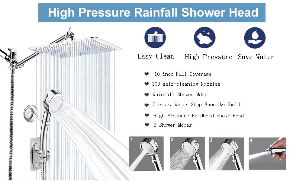 High Pressure Rainfall  Shower Head