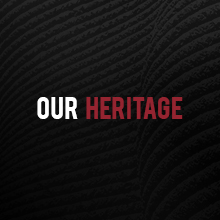 """Black background with """"Our Heritage"""" text"""