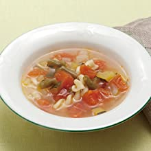 minestrone in a bowl