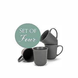 Set of four  Elanze mugs