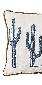 Cactus Linen Lumbar Pillow