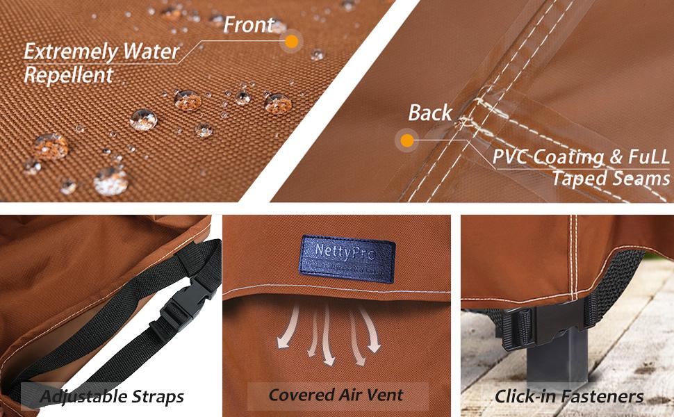 Waterproof outdoor chair covers