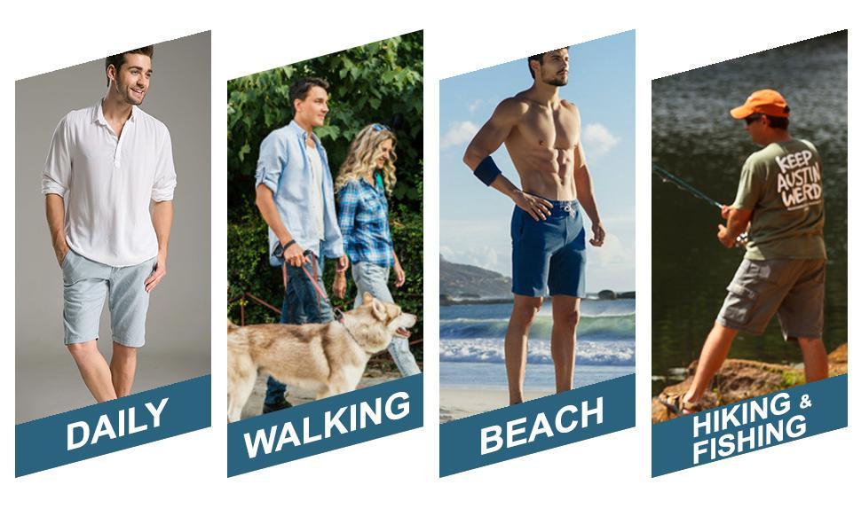 Mens Fisherman Leather Sandal Shoes for walking beach hiking fishing