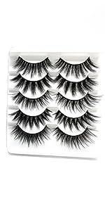 5pairs mink eyelashes bulk pack