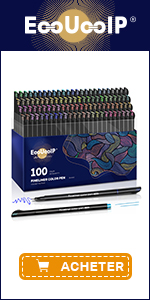 EooUooIP 100 Colours Fineliner Pens