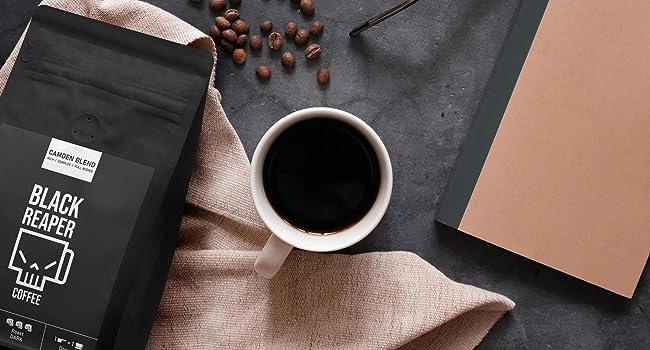 Black coffee dark roast