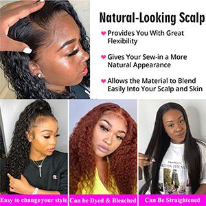 4x4 deep wave wigs for black women