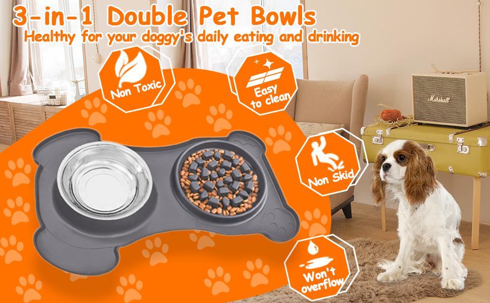 Double Pet Bowls