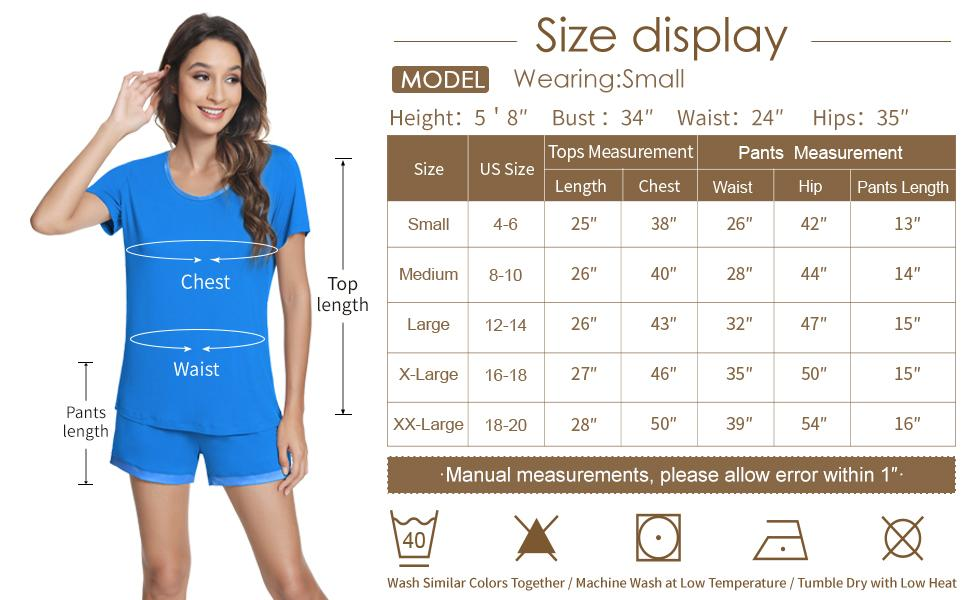 you will find the perfect-fitting sleepwear set from our size chart.