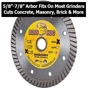 turbo diamond blade hand grinder masonry concrete brick block general purpose