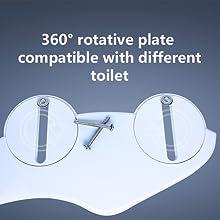 Easy install bidet for most toilet