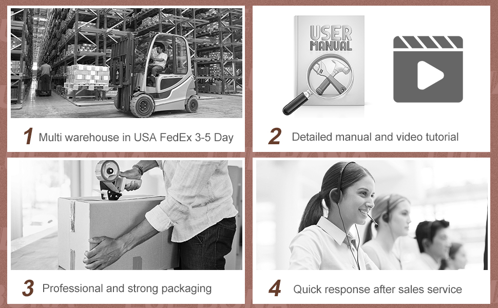 Professional and strong packaging 4 Quick response after sales service