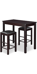 Counter table set of 3