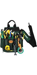 Heavy Duty Tradesman Pro Tool Pouch with Various Sized Pockets