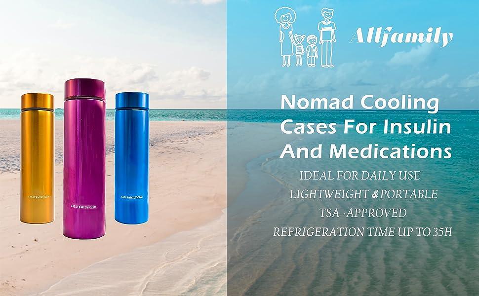 INSULIN COOLER NOMAD MODEL MEDICINE COOLER FOR TRAVEL TRAVELING
