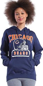 Ultra Game NFL Women's Super Soft Fleece Sweatshirt Hoodie - in Distressed amp; Non Distressed