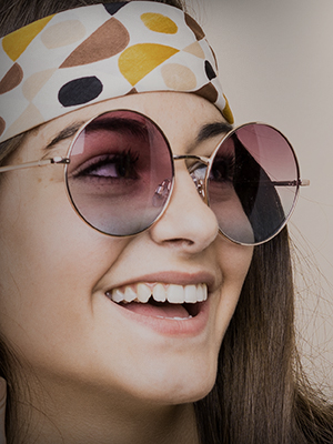 Hippie Retro Groovy Gradient Oversize Circle Lens Round Sunglasses