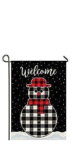 snowman winter christmas xmas garden yard flag
