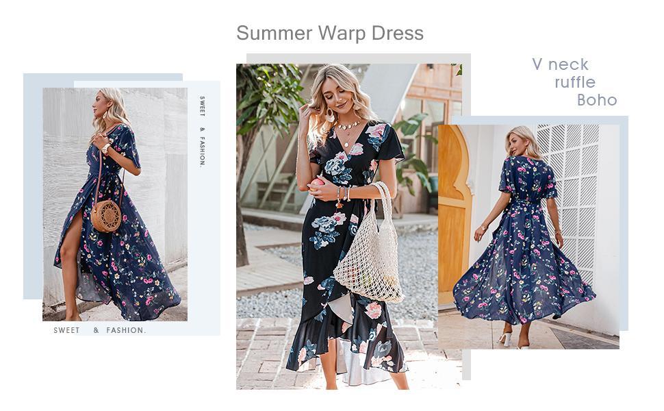 summer wedding guest dress flowy maxi dress womens boho dresses for summer  hawaiian dress