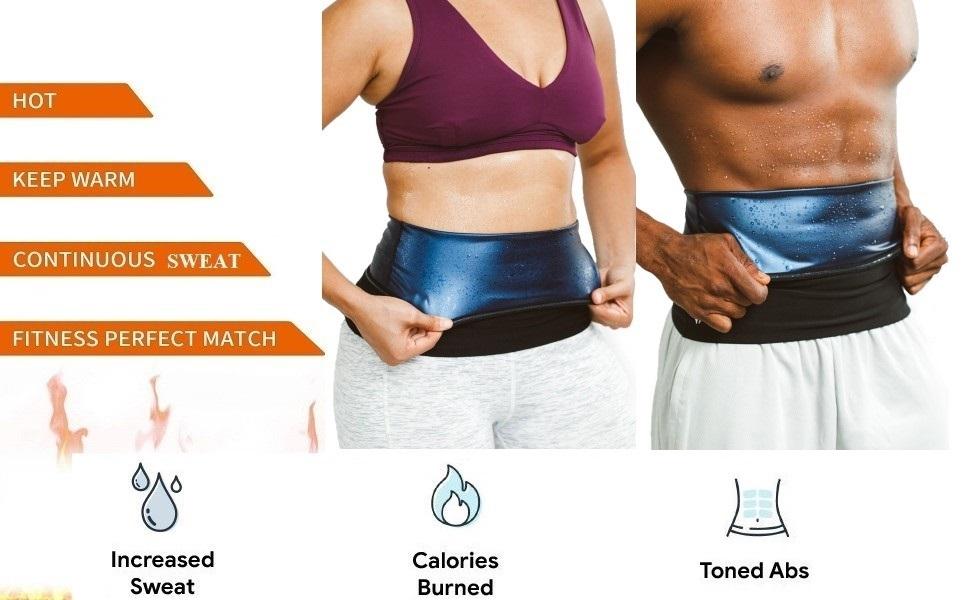 ADA Slimming Belt - Hot Body Slim Shaper Slim Belt - ADA Melt and Slim Belt Tummy Trimmer