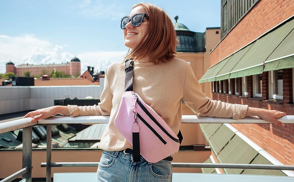 pink bum bag