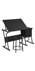 Black Drawing TableBlack Drawing Table