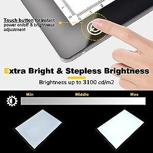 Stepless brightness Adjustment led light pad