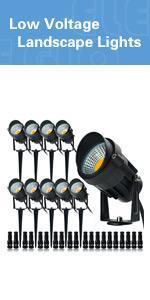 landscape lighting Spotlight 9W 12V Low Voltage Warm White landscape light Outdoor patio  Light