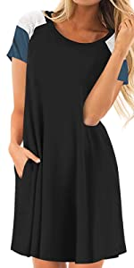Short Sleeve Dress with Pocket for Women
