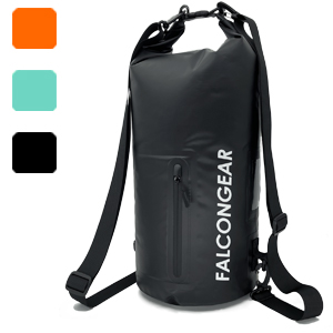 20L dry bag black mint orange