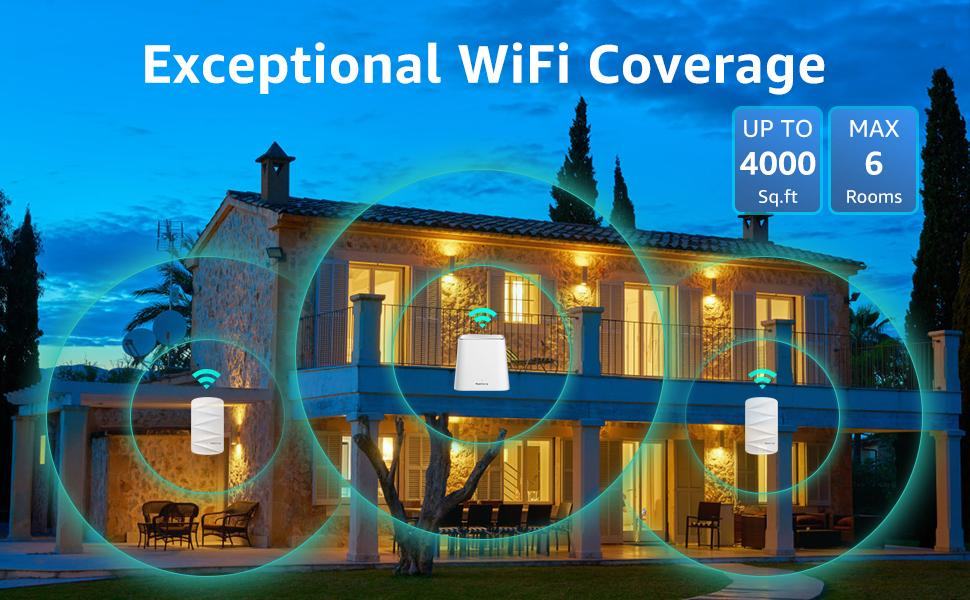 Exceptional WiFi Coverage