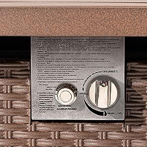 fire table knob