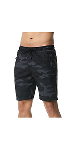 """7"""" Workout Running Shorts Camouflage Print"""