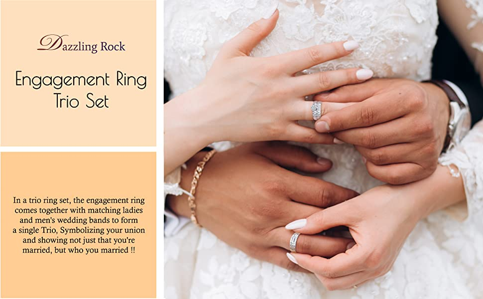 trio ring set
