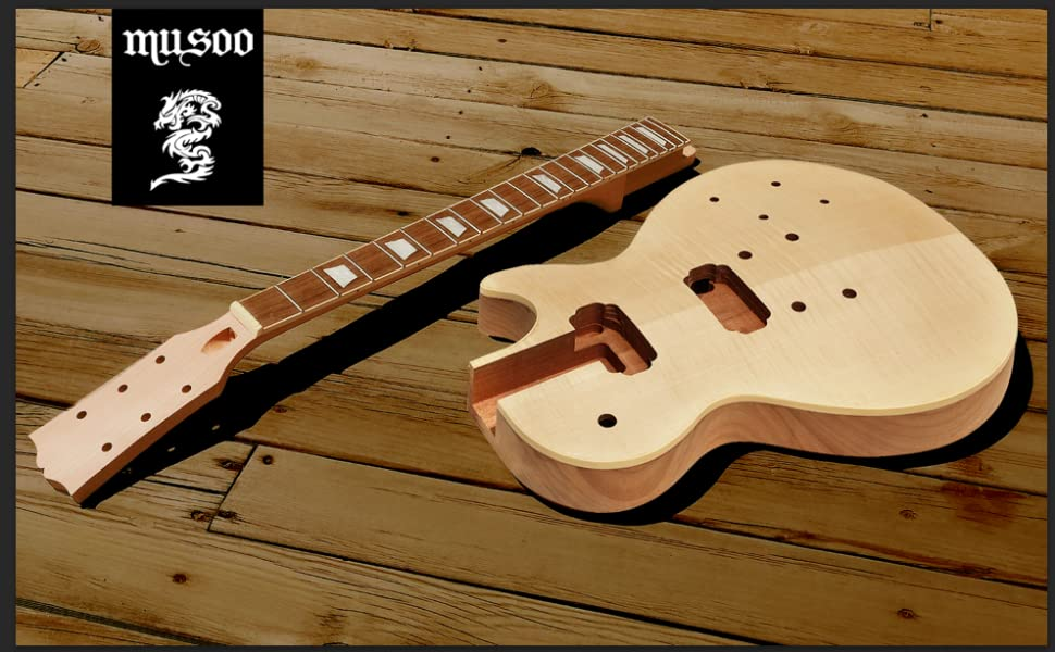 DIY electric guitar kit with all parts