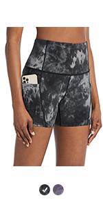 tie dye compression shorts