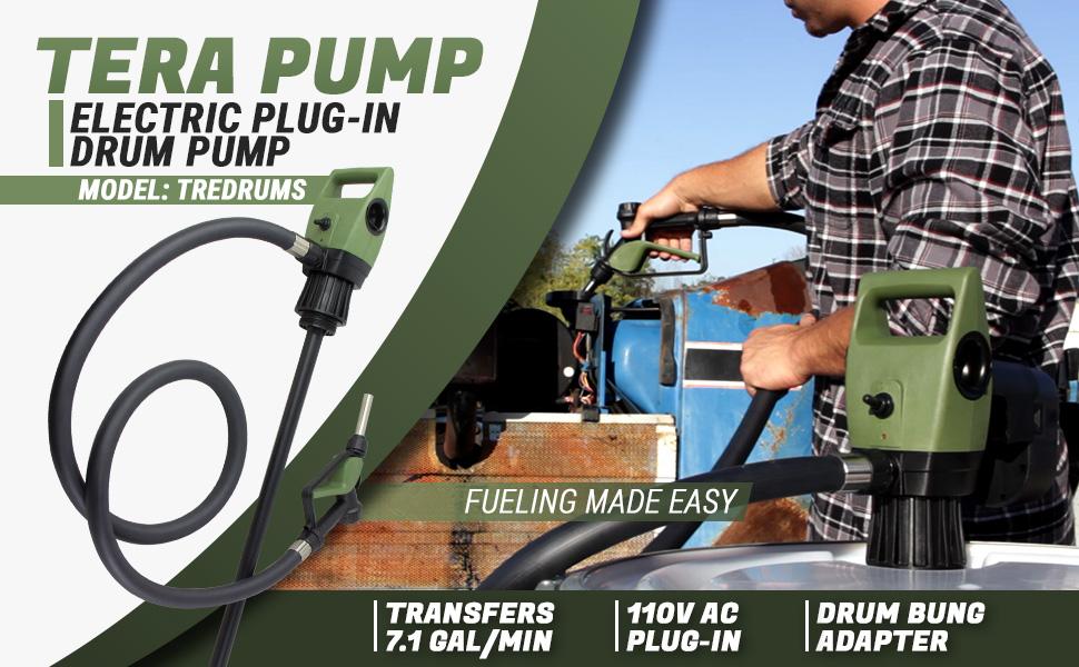 tera pump electric plug-in drum pump