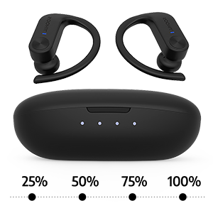AIHOOR A7 Wireless Earbuds with Charging Case, 36 Hours Playtime with case, 6 Hours Playtime Each